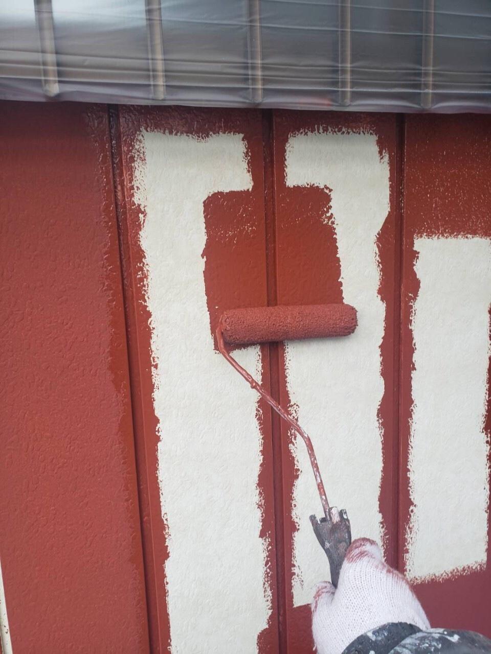 金属サイディング 下塗り